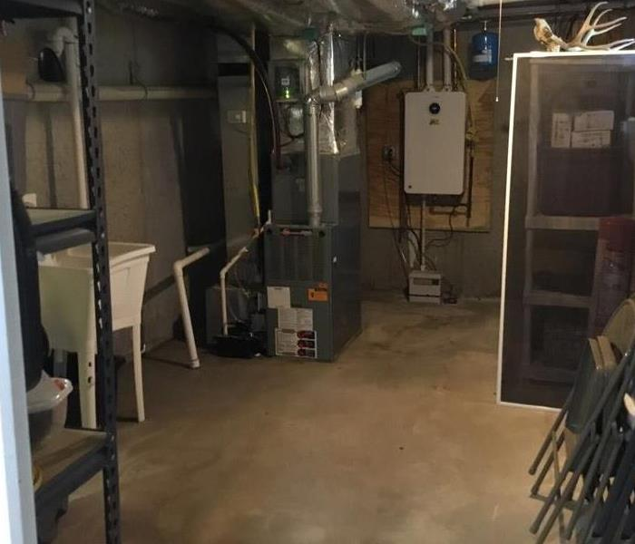 cleaned up basement boiler room