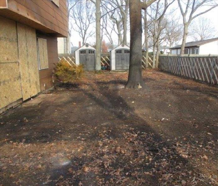 Deck Fire in Patchogue, NY After